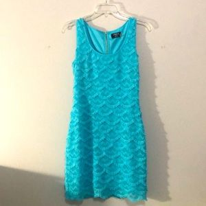 GUESS Turquoise Bodycon Mini Dress
